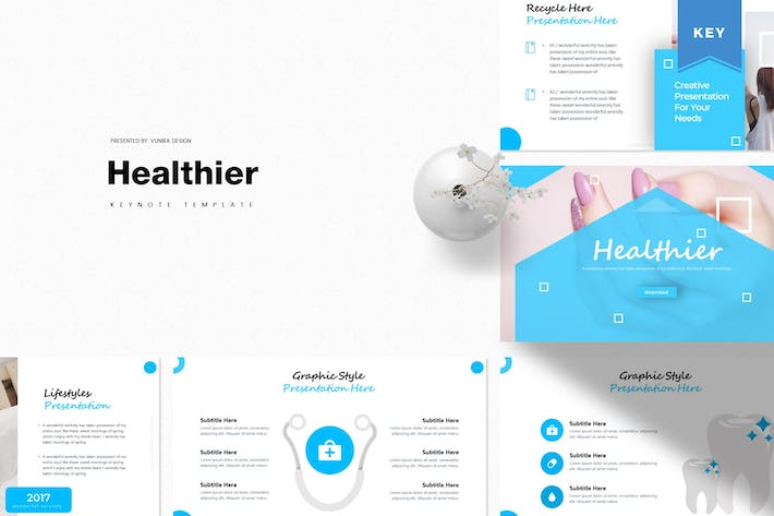Thumbnail for Healthier | Keynote Template