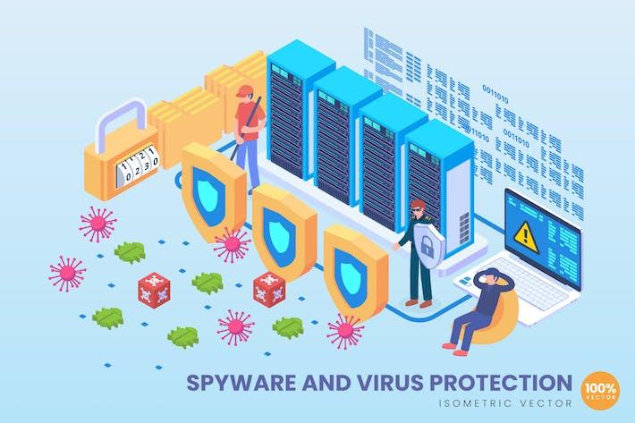 Thumbnail for Изометрический веВектор шпионских программ и защиты от вирусов