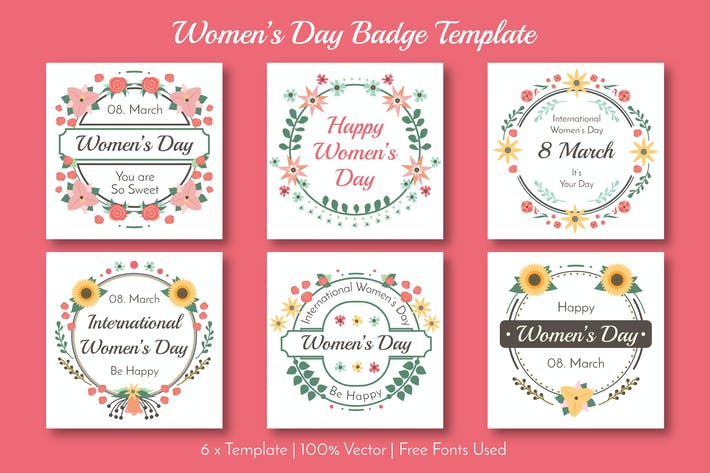 Thumbnail for Woman's Day Badge Collection