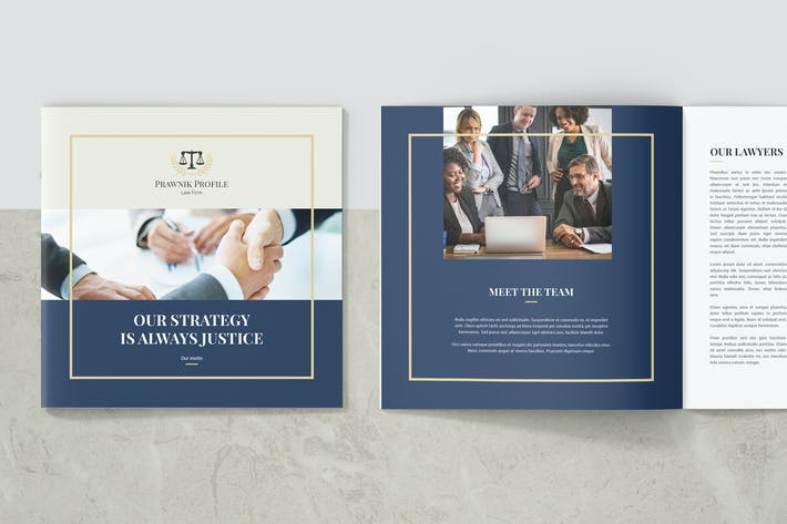 Thumbnail for Prawnik – Law Firm Company Profile Square