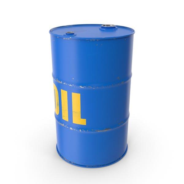 Oil Barrel Blue