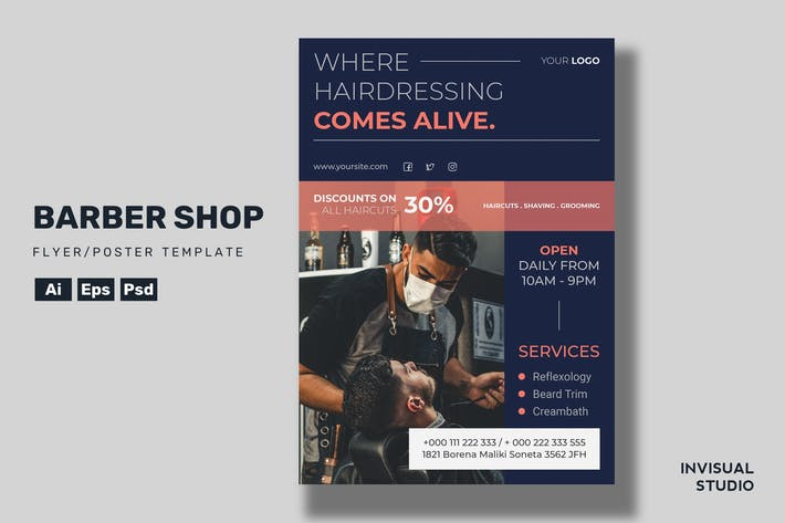 Thumbnail for Barber Shop - Flyer Template