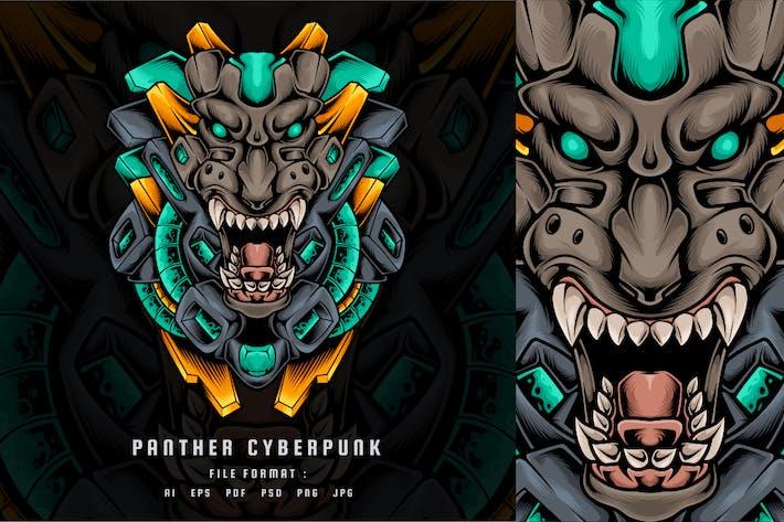 Panther Cyberpunk Head