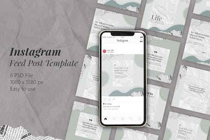 Creative Text Layout Instagram Feed Template