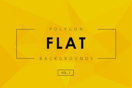 Flat Polygon Backgrounds Vol.2