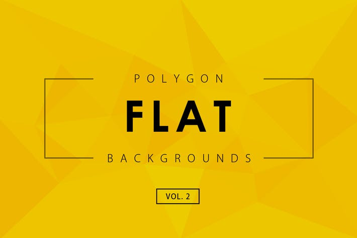 Cover Image For Flat Polygon Backgrounds Vol.2