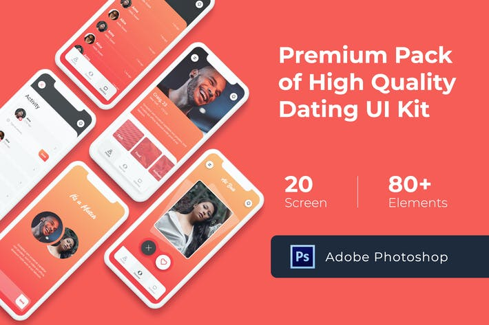 Thumbnail for Dating Mobile UI KIT for Photoshop