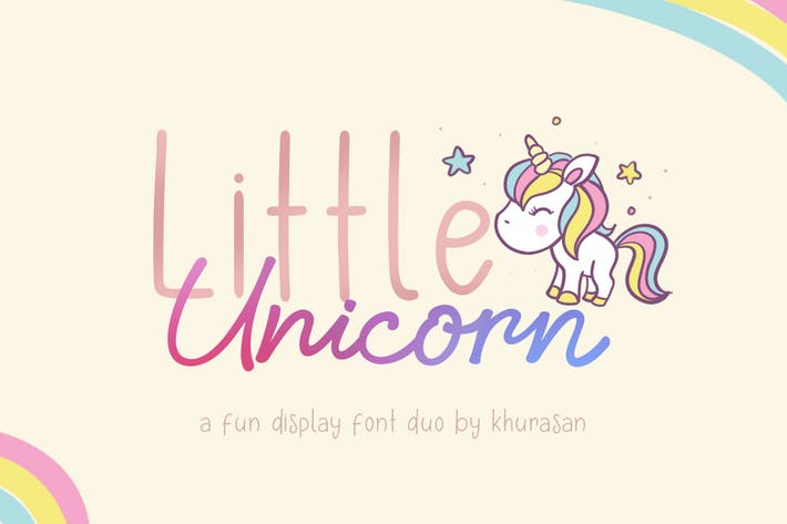 Thumbnail for Little Unicorn Font Duo