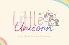 Little Unicorn Font Duo