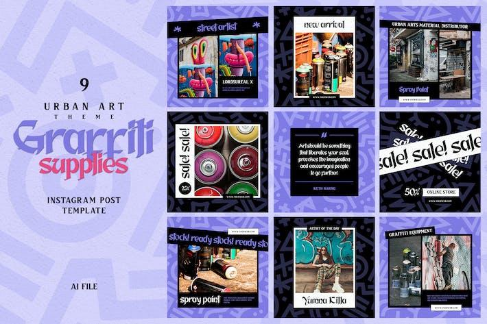 Thumbnail for Urban Art Theme - Graffiti Supplies Instagram Post