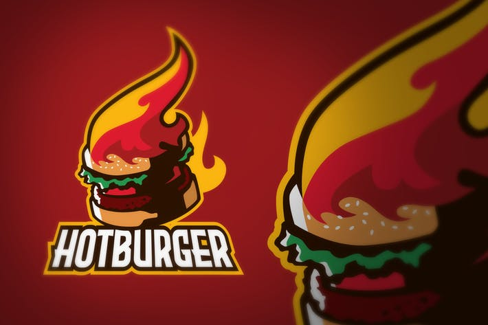 Thumbnail for Hot Fire Burger Logo