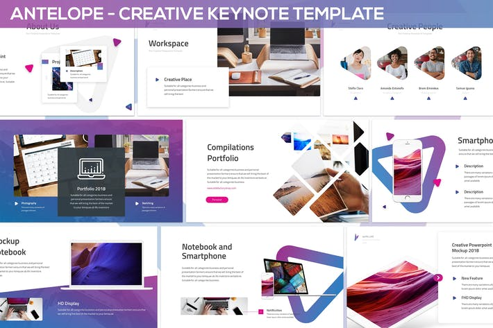 Thumbnail for Antelope - Creative Keynote Template