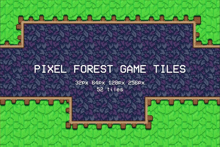 Thumbnail for Pixel Forest Game Tiles