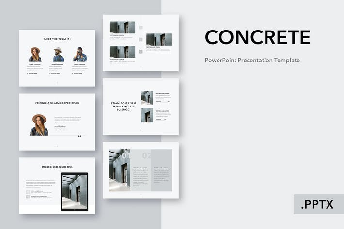 Thumbnail for Concrete PowerPoint Template
