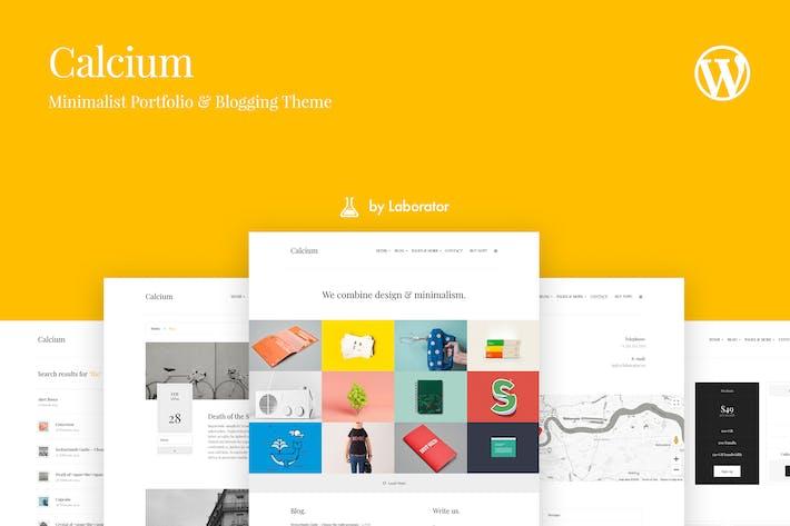 Thumbnail for Calcium - Minimalist Portfolio & Blogging Theme