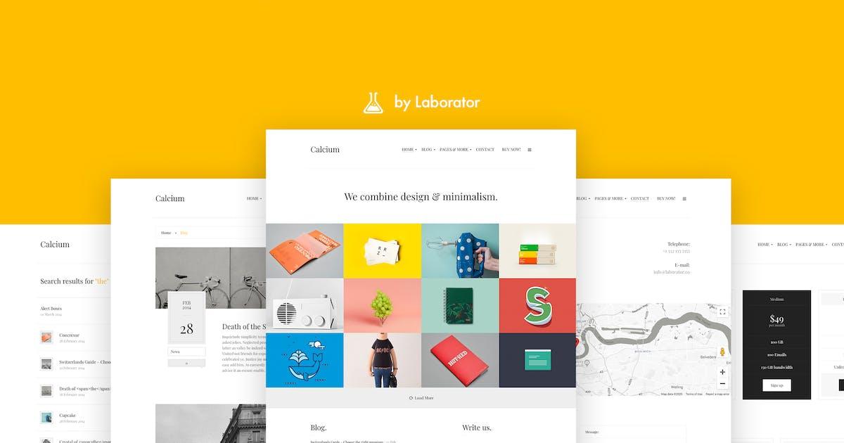 Download Calcium - Minimalist Portfolio & Blogging Theme by Laborator
