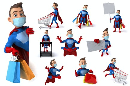 10 fun Superheroes with masks !