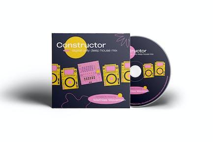 DJ Music Cover Artwork Template for CD & Digital