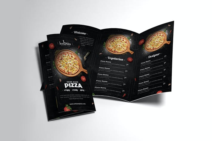 Thumbnail for Pizza Menu Trifold