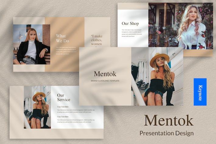 Thumbnail for Mentok - Шаблон презентации Keynote