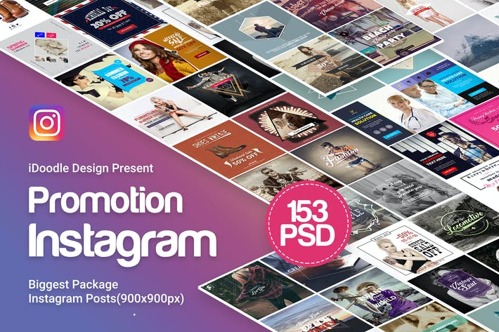 Thumbnail for Promotion Instagram Posts - 153 PSD