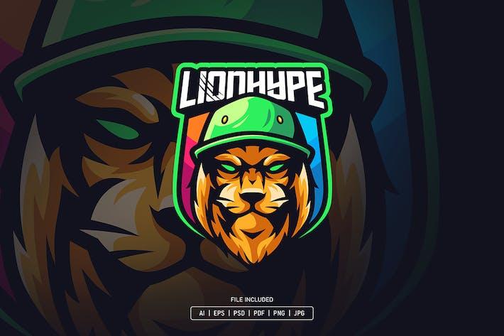 Lion hype esport logo template