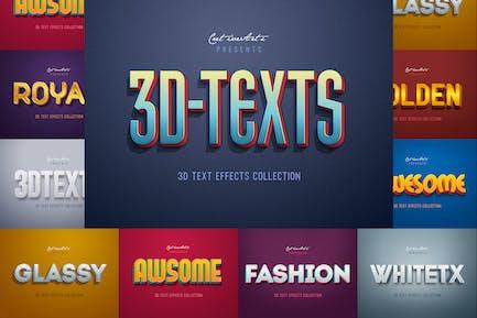 Ретро Винтаж 3D текстовые эффекты
