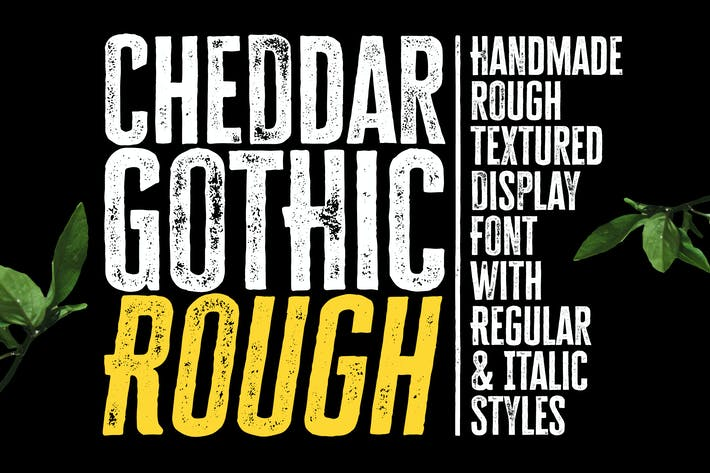 Thumbnail for Cheddar Gothic Rough Font