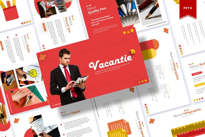 Cover Image For Vacantie | Powerpoint Template