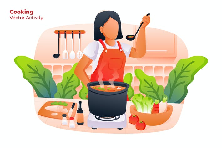 Thumbnail for Cooking - Vector Illustration