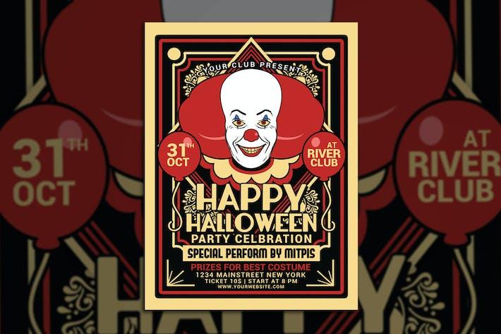 Thumbnail for Halloween Party Clown Festival Flyer