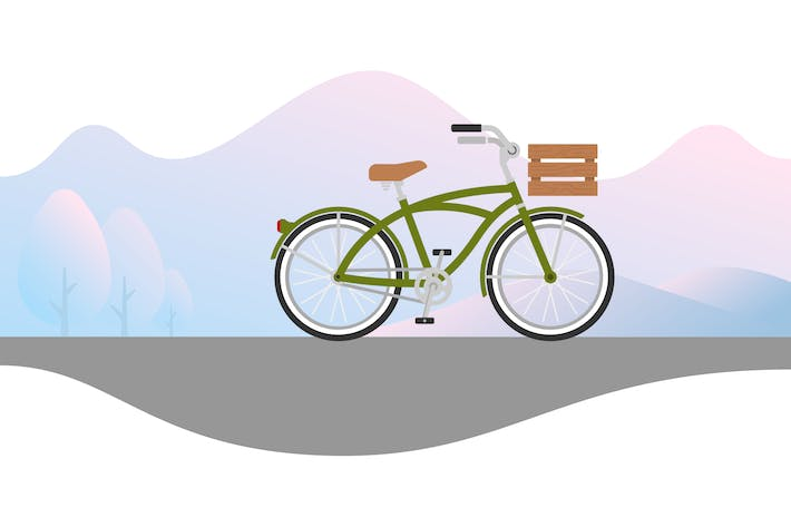 Thumbnail for Beach Cruiser with Wood Basket