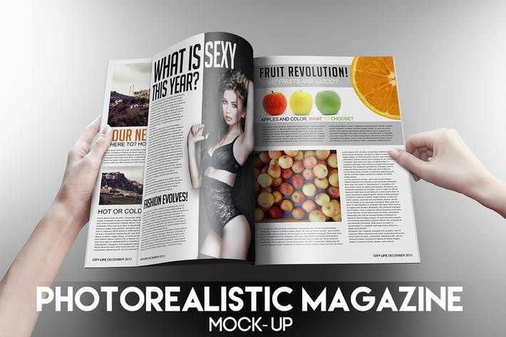 Thumbnail for Photorealistic Magazine Mock-Up