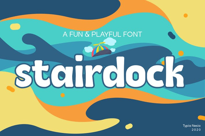Thumbnail for Stairdock - Fun Cute Snack Font
