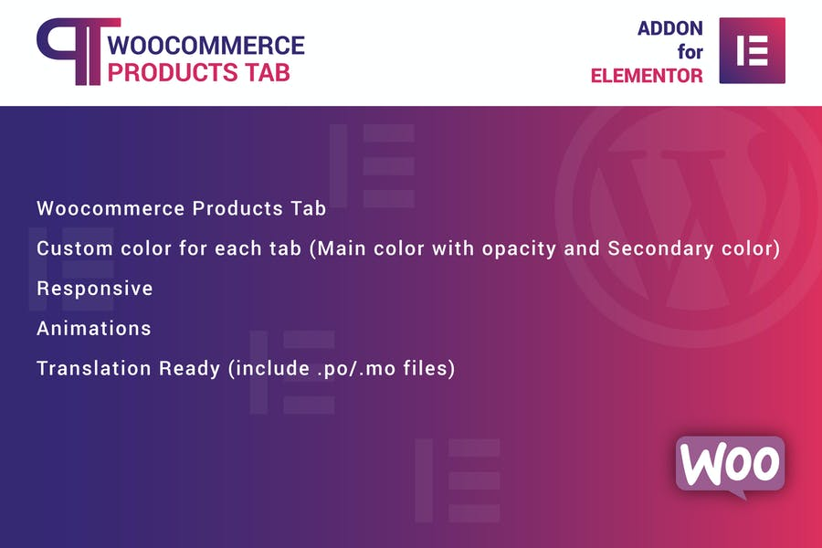 WooCommerce Products Tab for Elementor