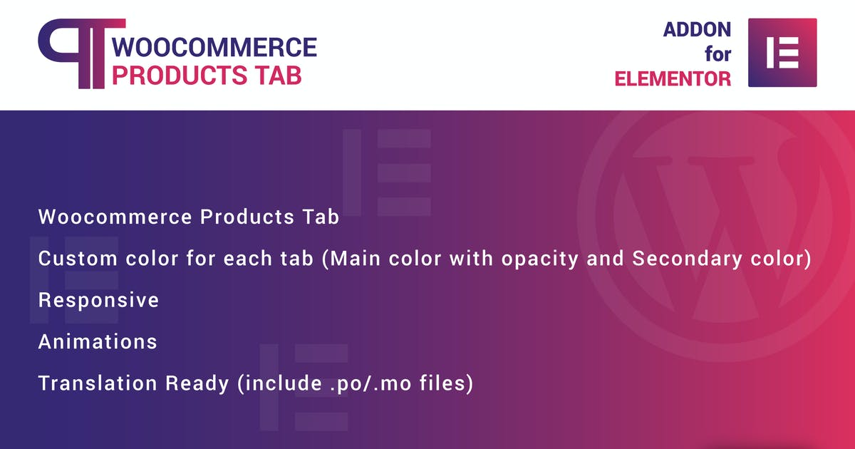 Download WooCommerce Products Tab for Elementor by ad-theme