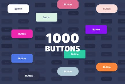 1000 Simple Buttons