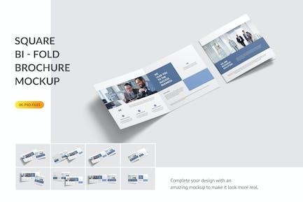 Square Bifold Brochure Mockup