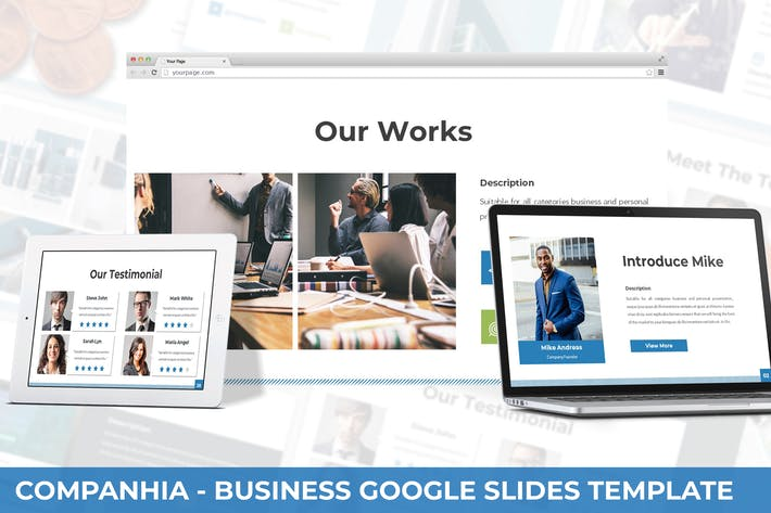 Thumbnail for Companhia - Business Google Slides Template