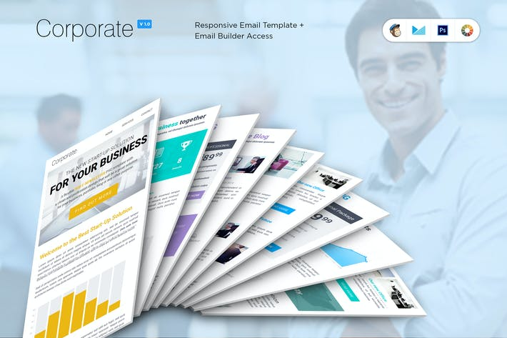 Thumbnail for Corporate B2B Newsletter Template