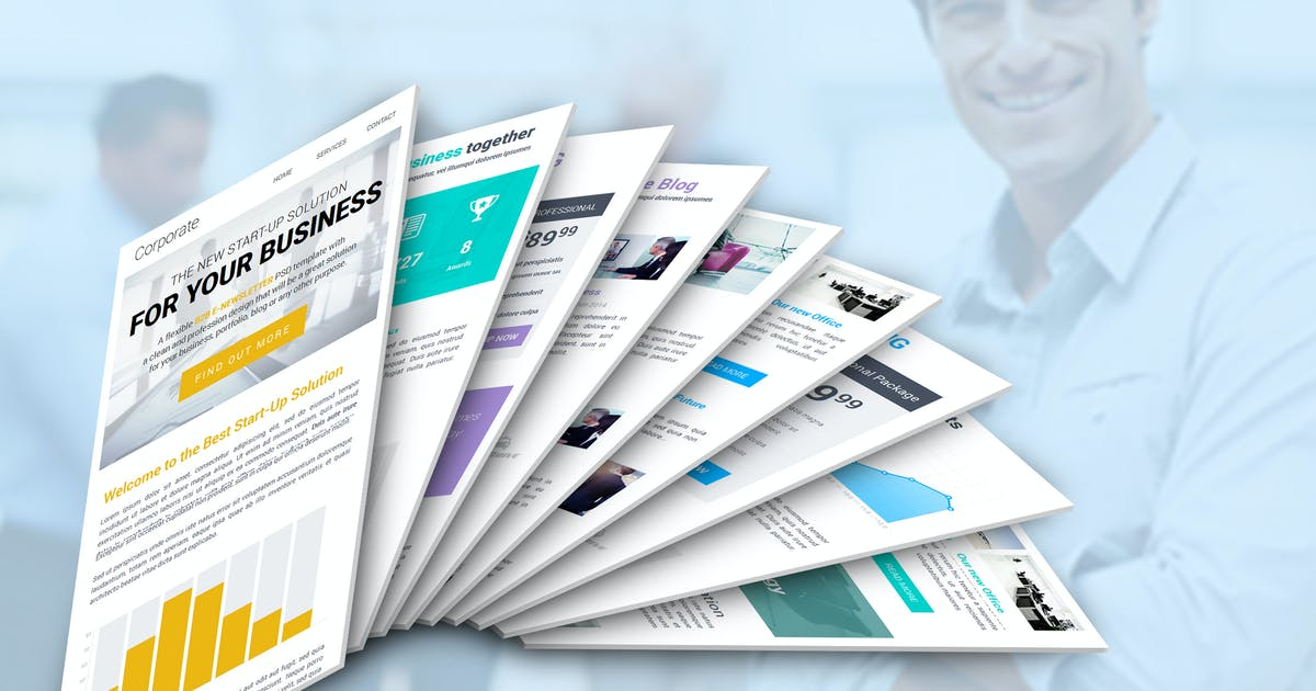 Download Corporate B2B Newsletter Template by JeetuG