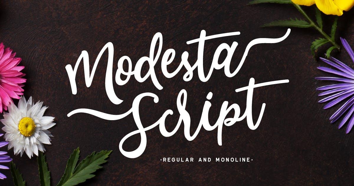 Download Modesta Script Font duo by letterhend