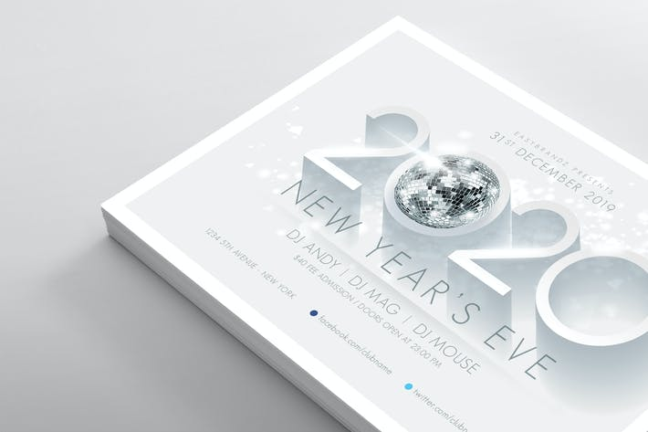 Thumbnail for 2020 New Years Flyer Template