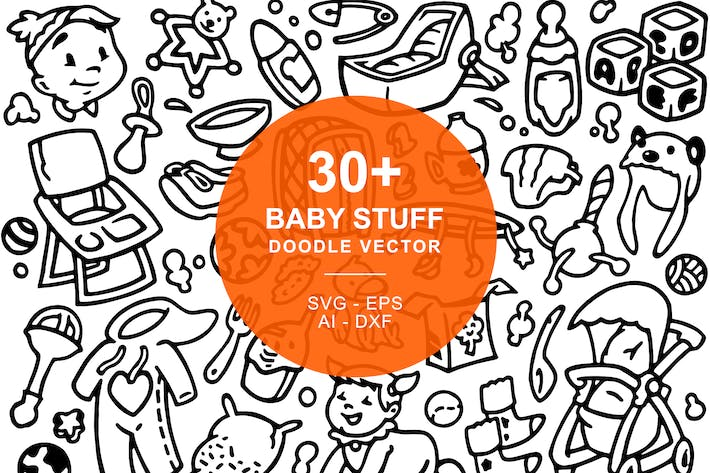 Thumbnail for Baby Stuffs Doodle Art Illustration