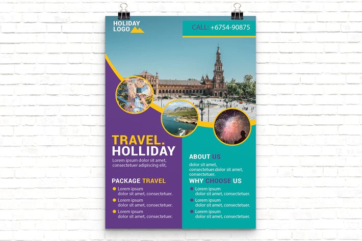 Thumbnail for Holiday Travel Flyer Template