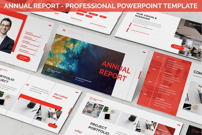 Thumbnail for Annual Report - Professional Powerpoint Template