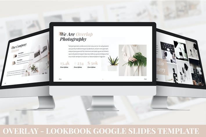Thumbnail for Overlay - Lookbook Google Slides Template