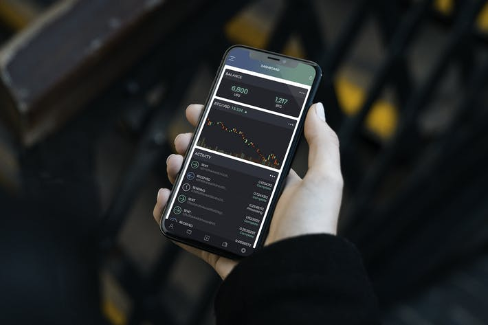Thumbnail for Cryptocurrency Wallet Mobile Ui - H