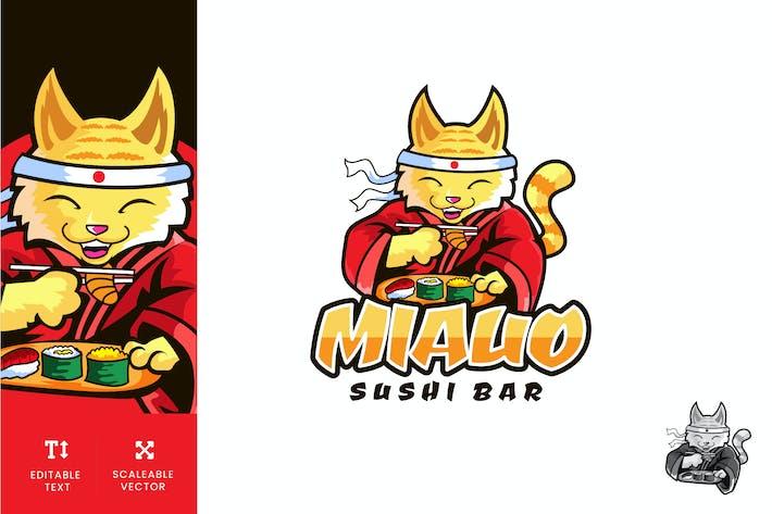 Thumbnail for Miauo Sushi Bar Logo Illustration Vector