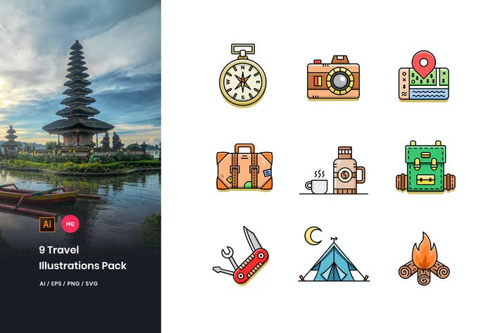 Thumbnail for Travel Illustrations Pack